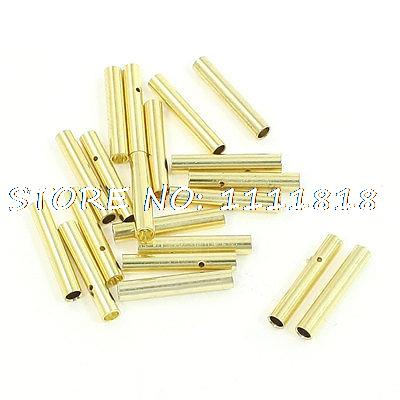 20 PCS 2mm Gold Tone Metal Bullet Connector Banana Plug for RC Helicopter areyourshop hot sale 50 pcs musical audio speaker cable wire 4mm gold plated banana plug connector