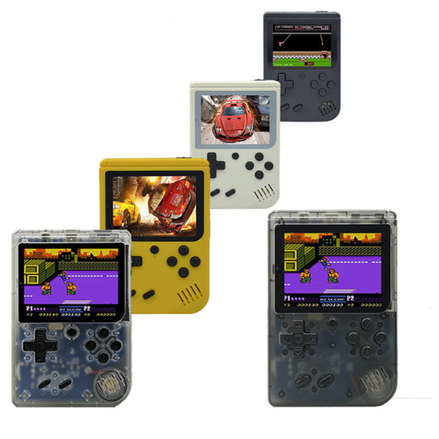 BOYHOM Retro Handheld Game Console Built-in 168/300 Games 3.0 Inch Color LCD Screen Mini Video Game Player Accept Two Player