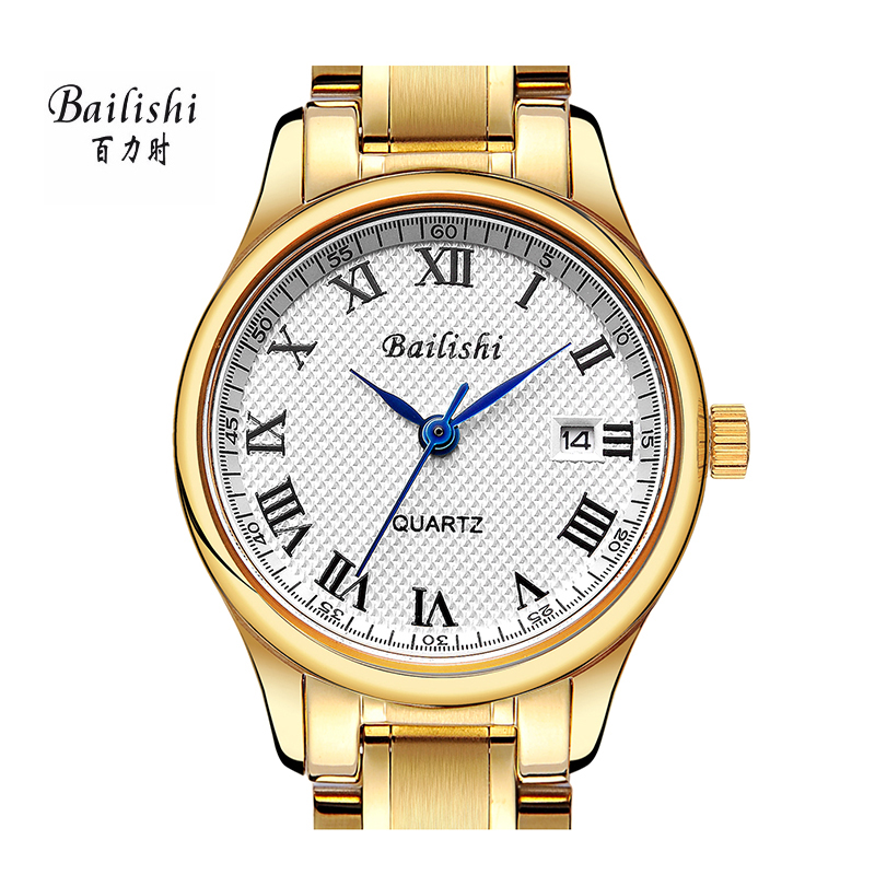 BAILISHI fashion ultra-thin women watches gold stainless steel wristwatch brand ladies watch casual waterproof relogio feminino feitong luxury brand watches for women ladies watch full stainless steel gold mesh band wristwatch wristwatch relogio feminino