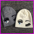Women Winter Wool Knitted Beanies Caps 2015 Fashion Autumn Big Eye And Eyelash Hip Hop Hats For Women