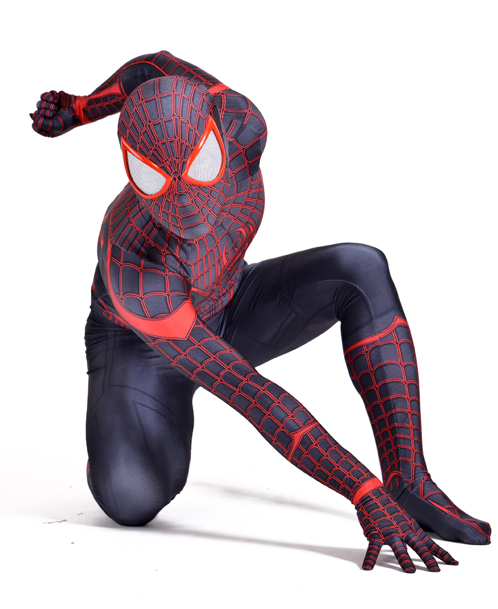 spider-man superhero costumes stunning miles morales spiderman costume 3d print spandex lycar halloween cosplay bodysuit spider man miles morales volume 2