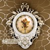 European Garden Retro Clock Room Ultra Quiet Watch Resin Decorative Wall Rome Word Table