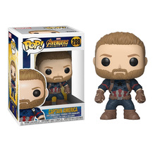 Funko POP Avengers 3 Iron Man Captain America Black Widow Winter Soldier Model Figure Collection Model Toy Gifts for Kids