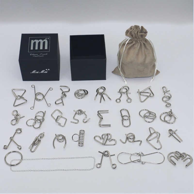 Горячо! 28 шт./компл. IQ металлическая головоломка Волшебные Пазлы игровые игрушки для детей и взрослых детская Подарочная коллекция D2