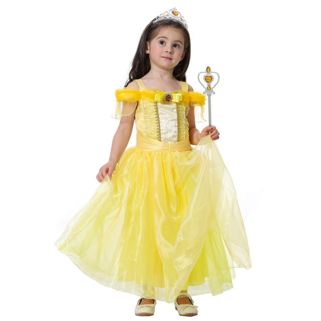 Online Shop beauty and the beast belle costume girls adult costumes kids  cosplay princess gril yellow pink dress aurora halloween Sleeping  f0f4b1834a85