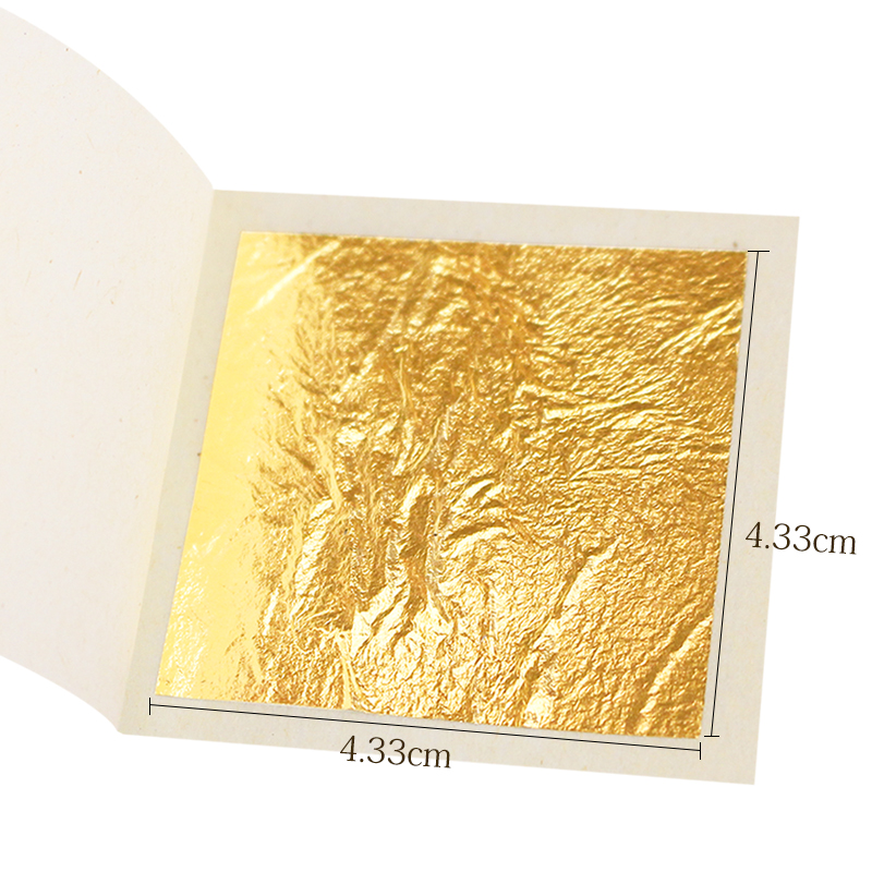 24k Gold leaf gilding 4 33cm 100 sheets edible gold leaf gilding and facial leaf Gold