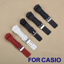 High Quality Colorful 16mm Black Rubber Watch Strap For Casio DW-5600E DW-5700 G-5600 G-5700 Waterproof Silicone Belt Band