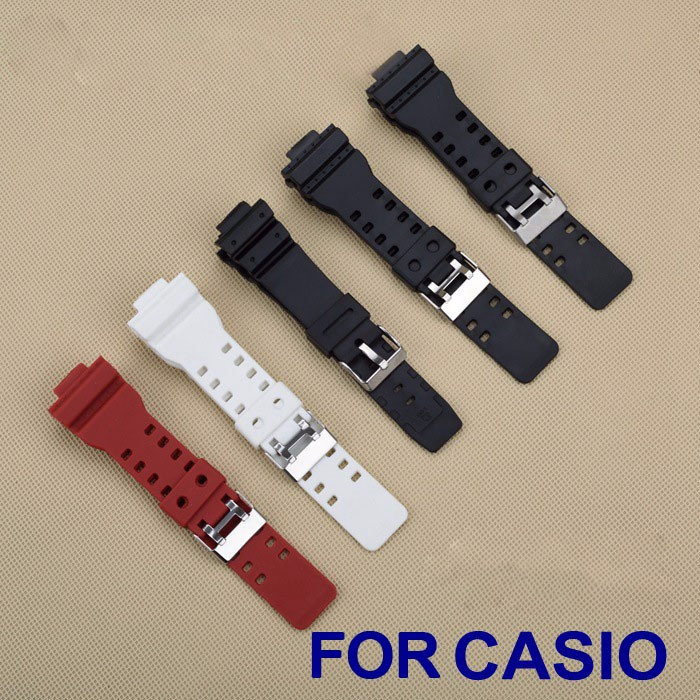 High Quality Colorful 16mm Black Rubber font b Watch b font Strap For font b Casio