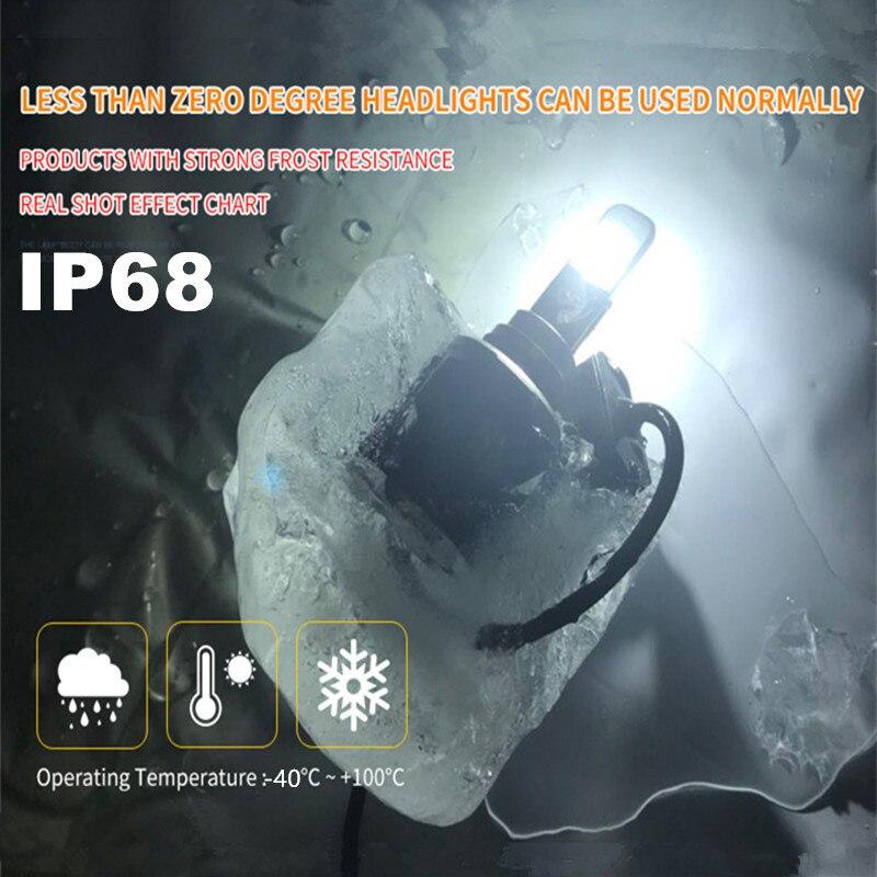 Xenplus 2pcs Auto d2s XHP70 Chip LED Koplamp Lamp h4 H7 H8 H9 H11 H13 hb3 9004 9005 9006 9007 Super Heldere meest krachtige 55W - 4