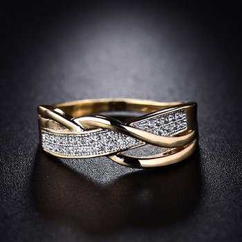 Size 6 7 8 9 10 Gifts Engagement High Quality Valentine Present Rings Silver Women Crystal Golden 1PC Hot Sale Cross Seaside 1