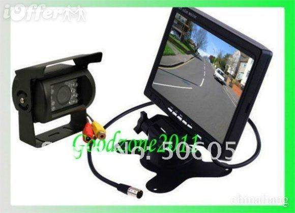 """Car Rear View Back up Camera 18 IR Night Reversing Camera + 7"""" monitor+parking assistance Rearview kits +10m cable"""