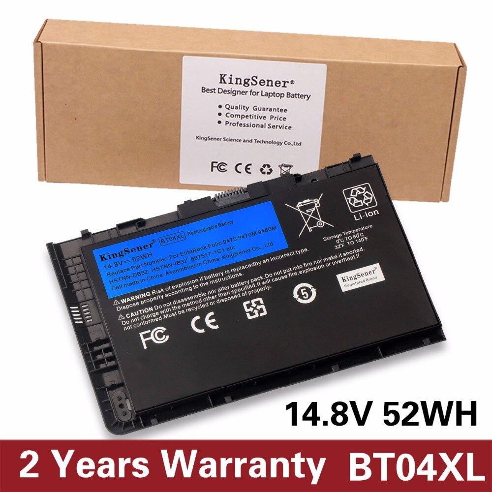 KingSener Nouveau BT04XL Batterie pour HP EliteBook Folio 9470 9470 m 9480 m Série HSTNN-IB3Z HSTNN-DB3Z HSTNN-I10C BA06 687517-1C1