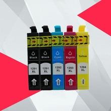 5PK Compatible T1291 T1295 T 1291 Ink cartridge for EPSON 129XL 12XL stylus SX235W SX425W SX420W