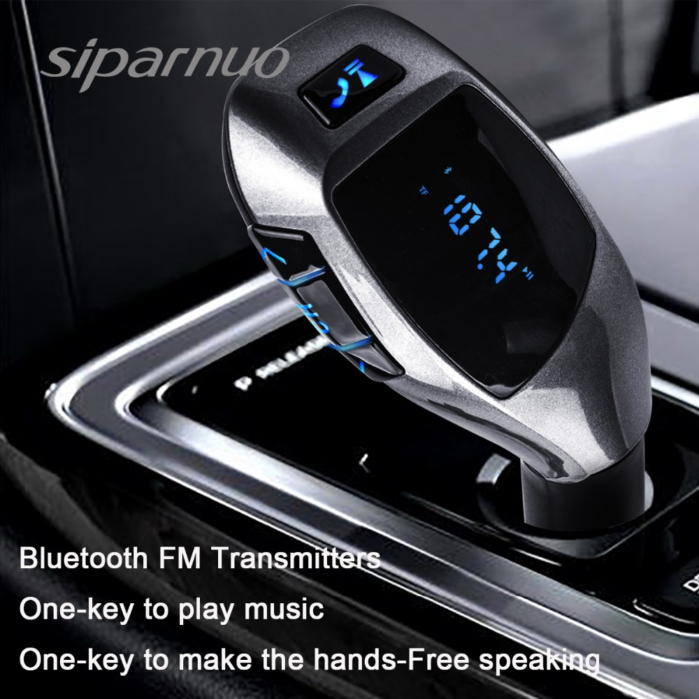 Siparnuo X5 Bluetooth Car Kit Car MP3 Player Bluetooth FM Transmitter dengan Headset FM Transmitter Phone Bluetooth Transmisor