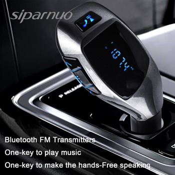 Siparnuo X5 Bluetooth Car Kit Car MP3 Player Bluetooth FM Transmitter with Headset FM Transmitter Phone Bluetooth Transmisor