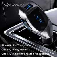 Siparnuo X5 Bluetooth Car Kit Car MP3 Player Bluetooth FM Transmitter with Headset FM Transmitter Phone Bluetooth Transmisor