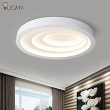 LICAN Modern LED Ceiling Lights For Living Room Art Celling Lamps Oval Shape White Dining Room Bedroom Lighting Fixture Lanterns