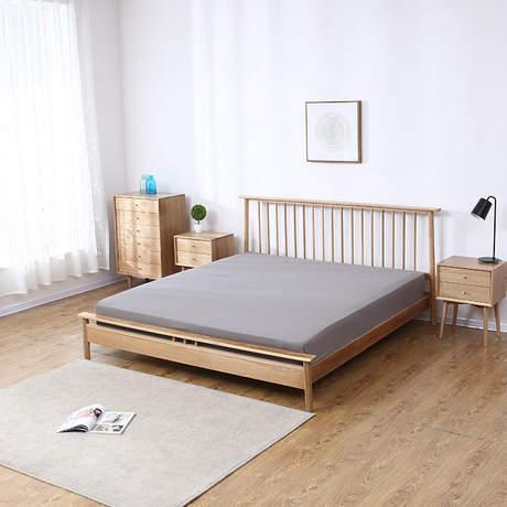 US $2759.99 8% OFF|Home Bed Bedroom Furniture Home Furniture white oak  solid wood Windsor double bed king size beds 150/180*200cm camas  modernas-in ...