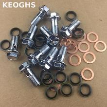 ФОТО universal motorcycle brake caliper oil drain screw 1mm*10mm 1.25mm*10mm hollow screw for brake pipe caliper master cylinder