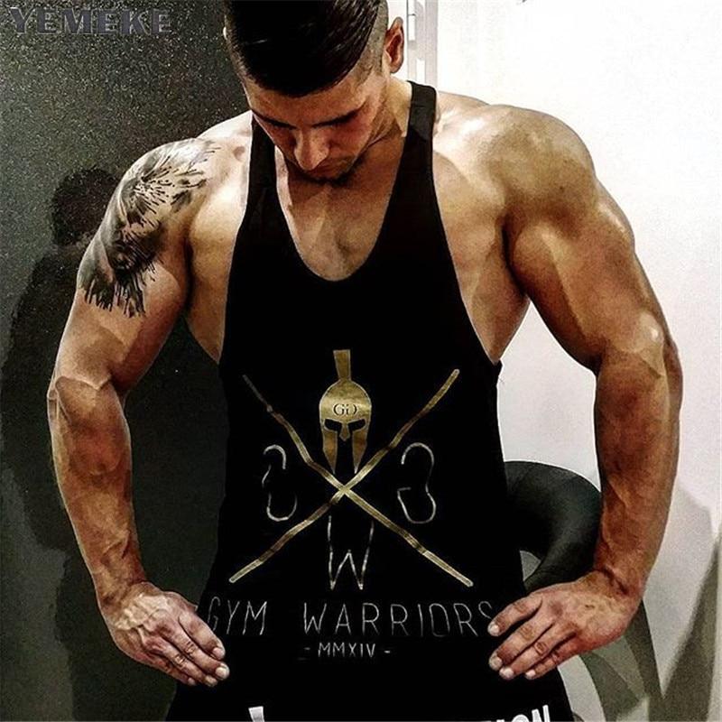 2018 YEMEKE mens sleeveless   tank     top   Summer men   Tank     Tops   Clothing Bodybuilding Undershirt Casual Fitness tees
