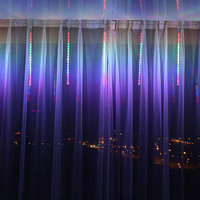 50CM 30CM 8 Tubes Led String Light Christmas Light Meteor Shower Icicle Snowfall Christmas Wedding Party
