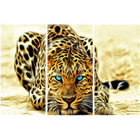 New 5d diy diamond painting leopard animal diamond cross stitch 3D diamond mosaic embroidery family decoration 3 piece set