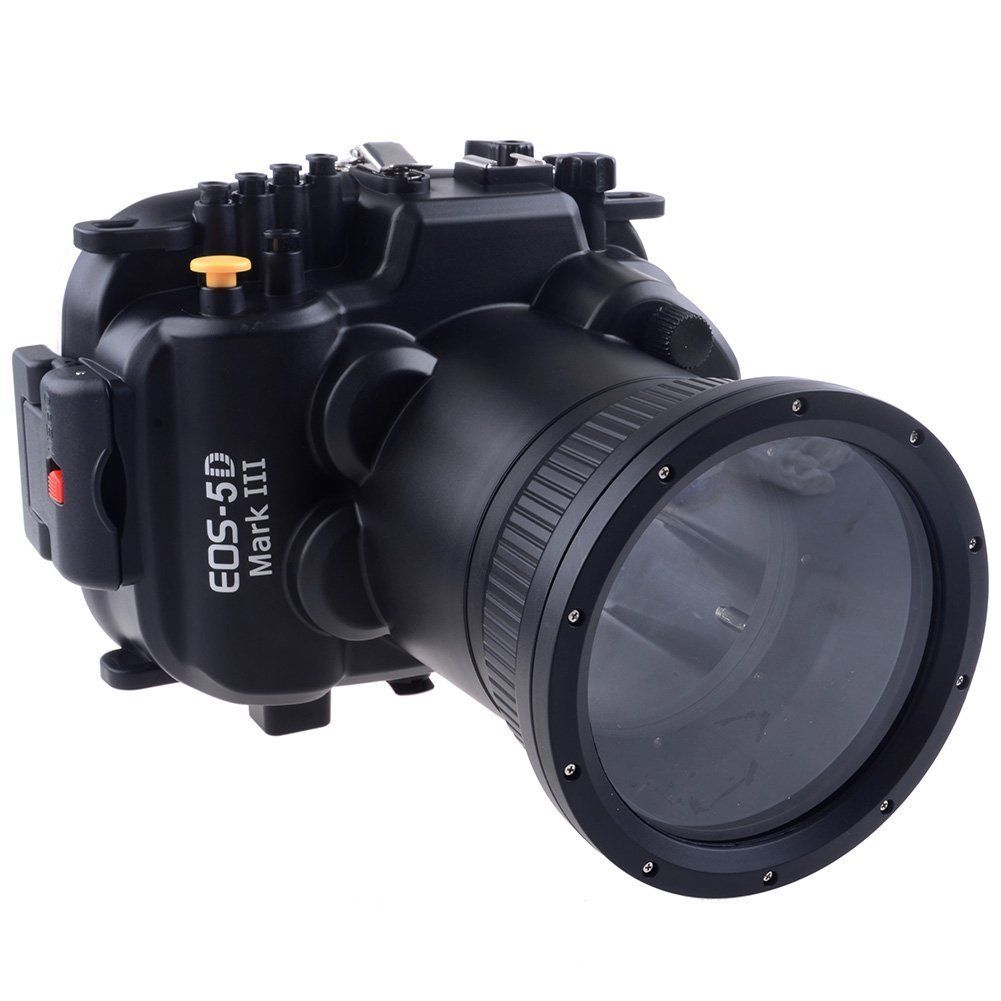 Waterproof Underwater Housing Camera Housing Case bag protector for Canon 5D Mark III 5d3 24-105mm Lens mcoplus 40m 130ft camera underwater housing waterproof shell case for nikon j5 10mm lens