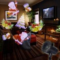 Christmas Halloween Laser Snowflake Projector Waterproof Outdoor Indoor LED Stage Lighting Effect Home Garden Light 12