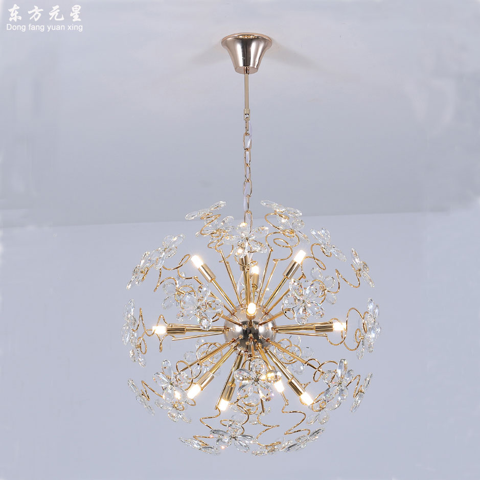 Cristal levou luz do candelabro lâmpada faísca bola dandelion sala de jantar sala de loja de roupas mostrar janela decorativa pendurar lightin - 2