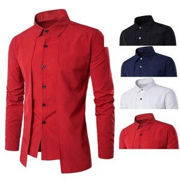 Men Casual Long Sleeve Business Slim Dress Shirt 4 Colors