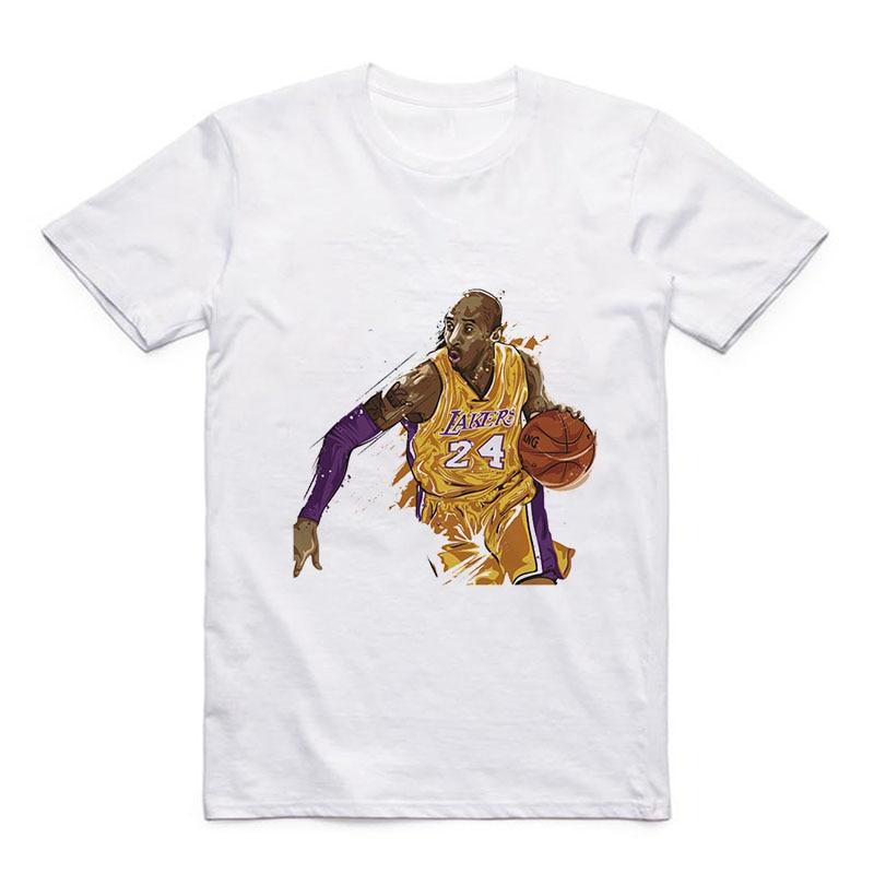 Summer T Pattern Printed by Jordan Superman Kobe Bryant Nash Garnett White Round Neck Modal T shirt in T Shirts from Men 39 s Clothing