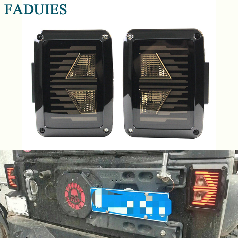 USA/EU edition reverser brake turn signal LED tail light For Jeep wrangler LED Tail Light With Brake Turning Reverse light kunfine pair of car tail light assembly for toyota corolla 2014 2015 2016 led brake light with turning signal light