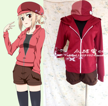 Anime Himouto! Umaru-chan Umaru Doma Cosplay Casual Outwear Coat + Shirt + Pants + Hat + Socks