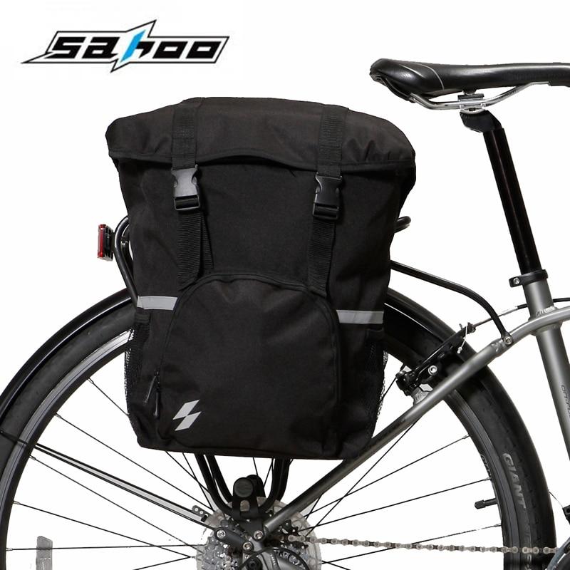 Roswheel Bike Bags Bicycle Rack Pack Luggage Storage Trunk Pannier Case US Black