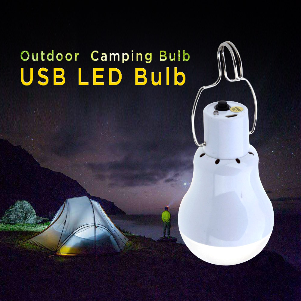 Lightme 110LM USB LED Bulb Over-discharge Protection Energy Saving LED Lamp Rechargeable Camping Hiking LED Bulb USB