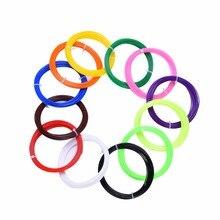 12pcs of 10Meters 3D Printer Filament Extruder 1.75mm 12 Colors of PLA for 3D Pen Filament for 3D Pens Doodler Printer Pens