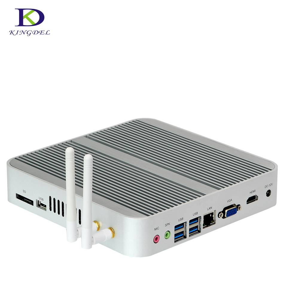 Gaming Computer 6th Gen Intel CPU Core I3 6100U Nettop Fanless Mini Pc With HDMI VGA SD Desktop Tv Box 16G RAM 128G SSD Home Pc