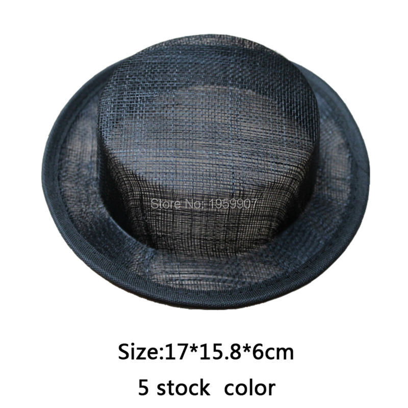 20 stk / mye Sinamay Top Hat Mini Top Hat Base # 5Color