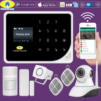 Golden Security WIFI GSM 3G 4G Alarm Systems Security Home GSM Alarm System APP Control Wired