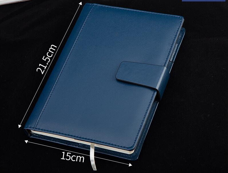 Classic Faux Leather Business Notebook A5 Folios Padfolio Office Business Man Travel Memo Pad