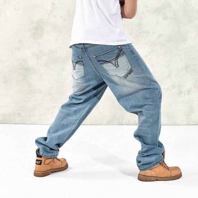 e7e33ca6 New Fashion Brand Men Baggy Jeans Big Size Mens Hip Hop Jeans Long Loose  Fashion Skateboard Relaxed Fit Jeans Mens Harem Pants