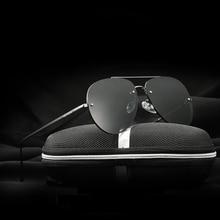 Бренд VEITHDIA, модные мужские солнцезащитные очки без оправы, поляризованные зеркальные женские солнцезащитные очки, очки gafas oculos de sol 3811