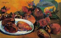 High quality Oil painting Canvas Reproductions Still life with mangoes (1893) by Paul Gauguin hand painted