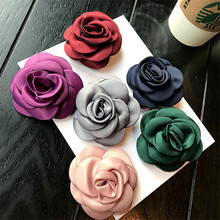 Korea New Handmade Modern Fabric Flower Brooches Pins Badges Fashion Jewelry For Woman Suits Accessories-YHGWBH015F