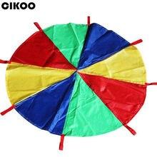 286066d16e41 Diámetro 2 m arco iris paraguas paracaídas juguete niño niños deportes al  aire libre desarrollo juguete Jump-sack Ballute Play p.