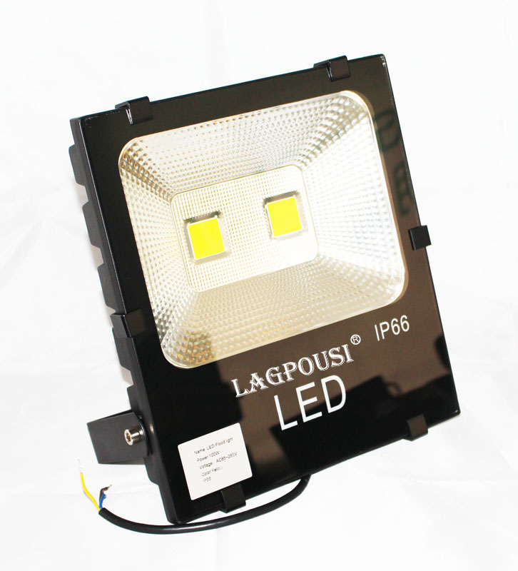 lagpousi 100W LED Flood Light Outdoor, IP66 Waterproof Lighting LED Spotlight, 9000LM, yellow(580nm~595nm) Wall light ultrathin led flood light 200w ac85 265v waterproof ip65 floodlight spotlight outdoor lighting free shipping