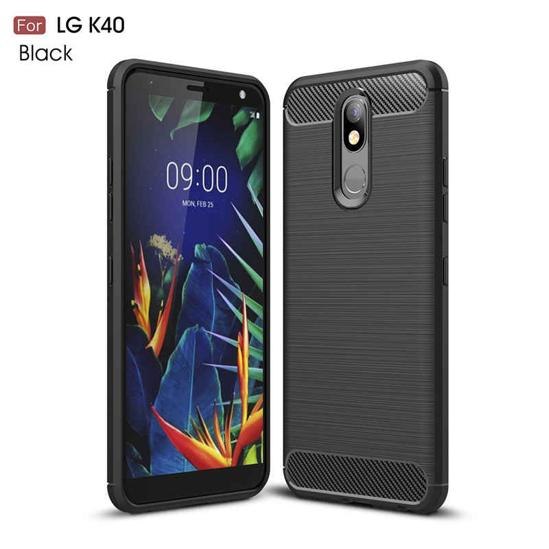 For LG K40 Case Luxury Armor Phone Bumper Rubber Soft Silicone Phone Case For LG K12 Plus Back Cover For LG K40 K12 Plus Fundas in Fitted Cases from Cellphones Telecommunications