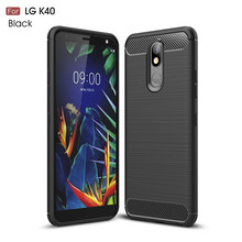 For LG K40 Case Luxury Armor Phone Bumper Rubber Soft Silicone K12 Plus Back Cover Fundas