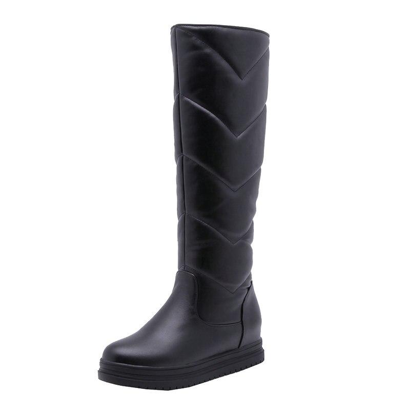 624146396 Mulher Sapato Quente Botas Dentro Bota branco on Tamanho Inverno Plana  Senhoras De Com Bezerro Salto Meados Curto Slip Lazer Mulheres ...