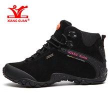 XIANGGUAN Marca Hombres Senderismo Zapatos Para Caminar Impermeables Zapatillas de Deporte Para Hombre Durable Deporte Al Aire Libre Escalada Camping EE.UU. Gran Tamaño 6-15